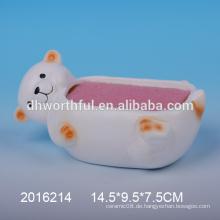 Lovely kleine Bär Keramik Schwamm Halter für Küche