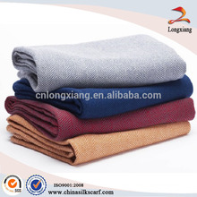 Manta de lana de diseño de espiga de pez fábrica china