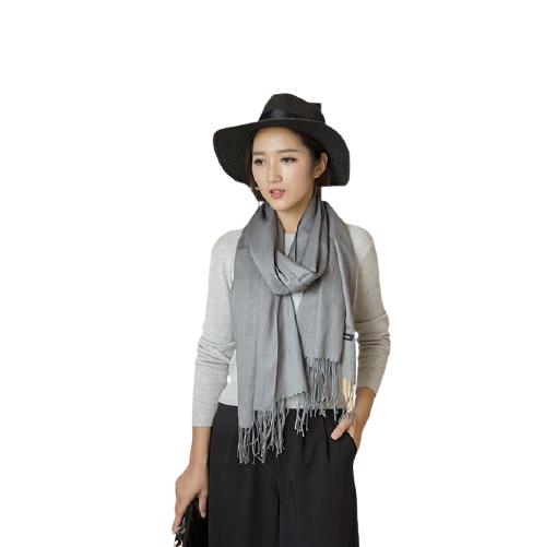 Mens Womens Unisex Autumn Winter Tassels Solid Color Shawl Scarf Muffler