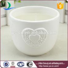 White ceramic wedding candle holder