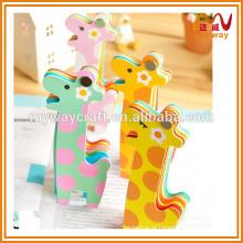 Bloco de notas super fofo da girafa, mini memo pad, kawaii papelaria coreana