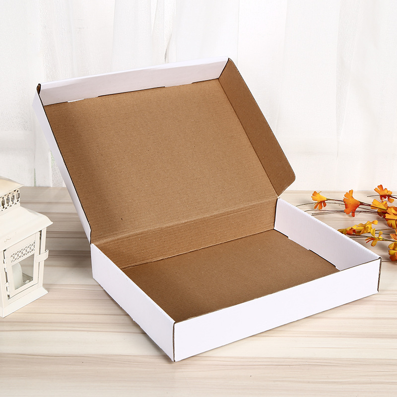 White corrugated shipping mailer box