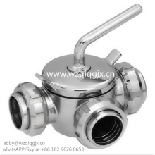 Dairy Plug Valve with Union 304/316L
