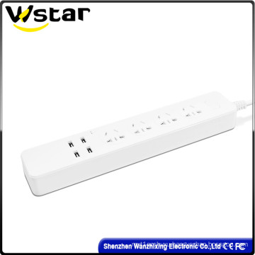 4 Way Switch Extension Socket with USB