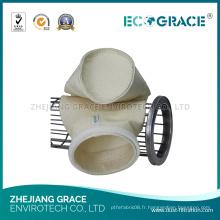 Sac en fil de filtre à air en fibre de PTFE pour les chaudières d'incinération des déchets