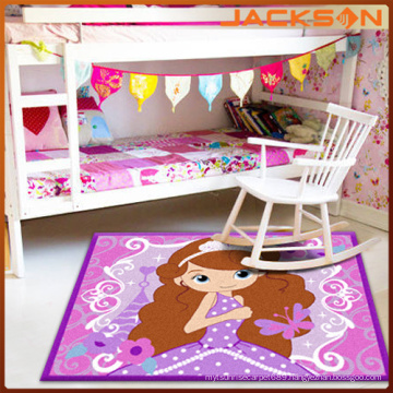 China Carpet Factory Machine Tufted Kids Carpet, Girls Pink Soften Carpet