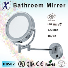 8.5 pulgadas LED atenuador (D8502), espejo de baño de aumento