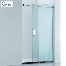 Sliding Bathroom Shower Enclosure with Stainless Steel Wall Frame (CVP040D)