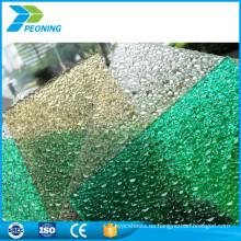 Materiales de construcción de construcción transparente makrolon 6 mm de espesor de policarbonato sólido hoja de precios