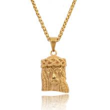 Высокое Качество Золотой Иисус Голова Иисуса Лицом Кулон Ожерелья Хип-Хоп Рэппер Танец Ювелирные Изделия