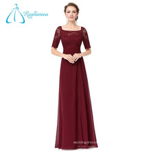 Floor Length Empire Waistline Half Sleeve Chiffon Evening Dress