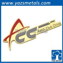 Custom Metal Club Car Logo avec l'adhésif de la partie arrière