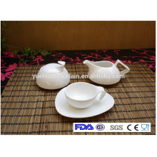 Eco-friendly barato mesa de chá de porcelana branca conjunto
