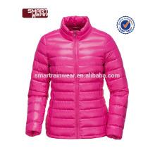OEM atacado moda acolchoado poliéster jaquetas reversível para as mulheres