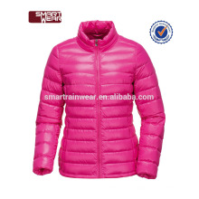 Оптовая продажа OEM модный мягкий полиэстер вниз куртки двусторонняя куртка для женщин