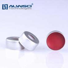 HPLC / GC Capuchón de aluminio de crimpado de 2 ml PTFE / Septa de silicona