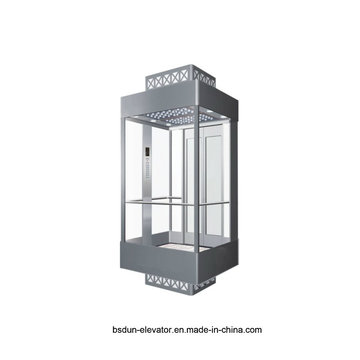 Vvvf Gearless Machine Room Observación Elevador de Pasajeros por Huzhou Fabricante Fábrica Mr