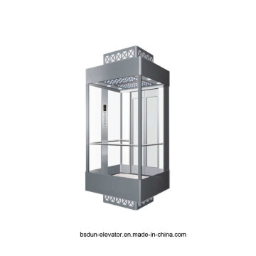 Vvvf Gearless Machine Room Observation Passenger Elevator by Huzhou Manufacturer Factory Mr