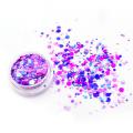paillettes de confettis, paillettes chunky de couleur mélangée pour le visage