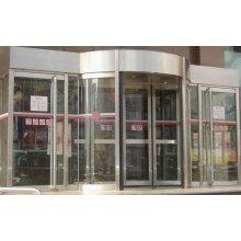 Fornecimento sistema de porta giratória automática simples (2 asas)