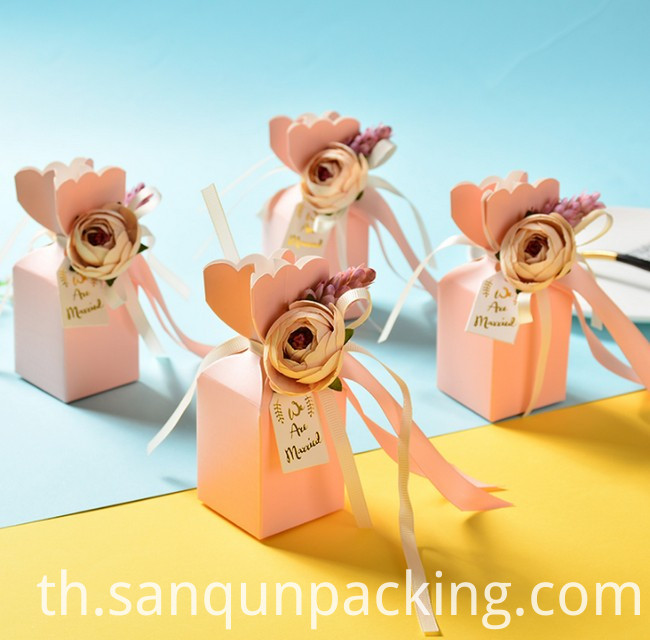 Pink Wedding Candy Box