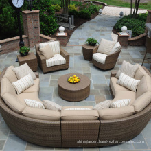 Wicker Patio Garden Outdoor Furniture Rattan Sectional Sofa Set