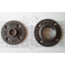 Cast Black Iron Thread Flange For Decoration