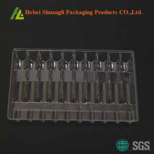 Clear PVC Plastic Vials Tray Packaging
