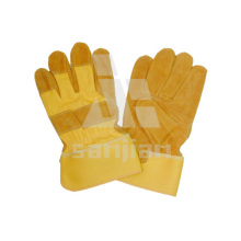Yellow Leather Grad a/Ab/Bc Working Safety Glove
