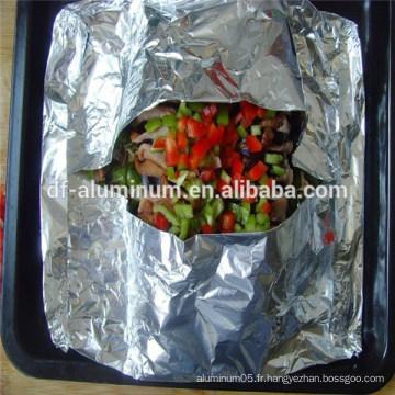Papier d'aluminium papier d'emballage alimentaire en rouleaux fourniture de fabricant