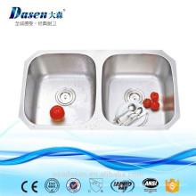 Unique Undermount CUPC 304 Drücken Edelstahl Doppel Twin Bowl Deep Kitchen Sink 3218