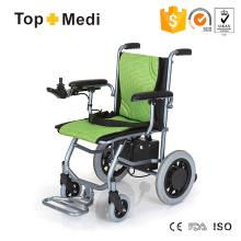 Cadeira de rodas elétrica de peso leve leve super fácil dobrável