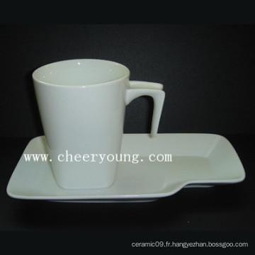 Coupe et soucoupe en céramique (CY-P518)