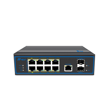 Switch PoE Ethernet gestito industriale a 10 porte full gigabit