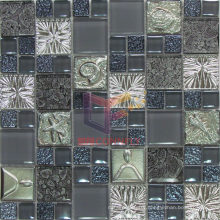 Grey Crystal and Resin Mosaic (CSR070)