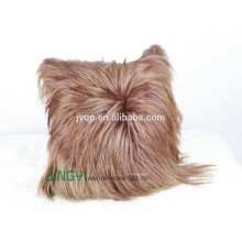 Wholesale Goat Skin Leather Plates Cushion Cover
