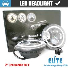 El coche LED de 7 pulgadas enciende la linterna redonda aprobada del proyector del LED del CE IP67 con DRL y la señal de vuelta para Jeep Wrangler JK