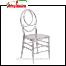 Elegancia Crystal Ice Resin PP Plastic Phoenix Chair (KD)