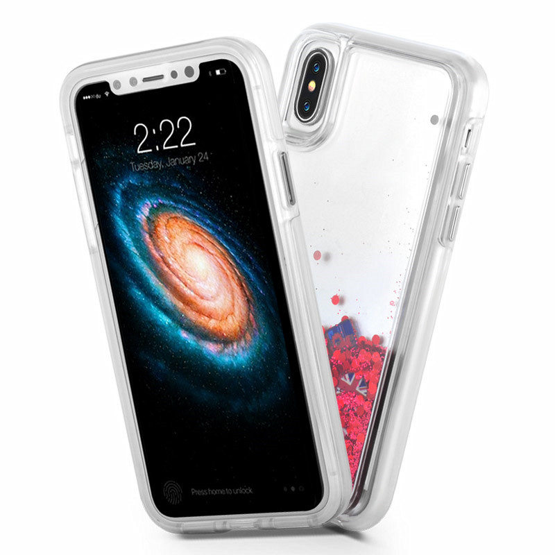 waterfall case for iPhoneX with quick sand