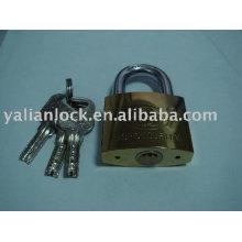 Cadeado de ferro de titânio com chaves de computador