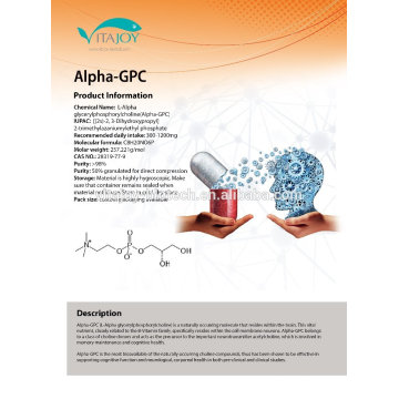 Hot Sale GMP Certificate Alpha-gpc 85% liquid 99% powder form