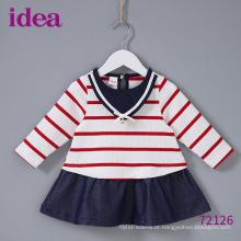72126 crianças um pedaço meninas vestido vestido de festa da marinha