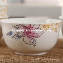 grossiste porcelaine salade bol nouilles arc en céramique bol de riz