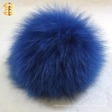 Chaîne principale authentique de charme de boule de renard pour téléphone et charme de sac