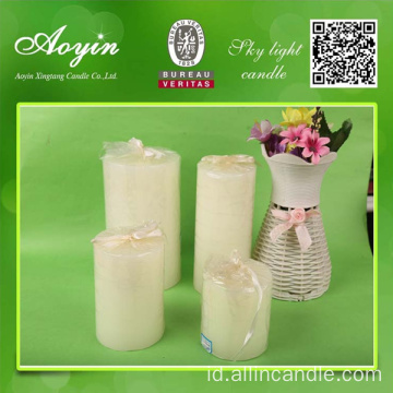 Classic 5 * 5 White Round Pillar Candle