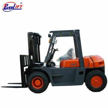 FD50T Doppelte vordere Reifen-große 5 Tonne Diesel-Gabelstapler-Gabelstapler 5 Tonne