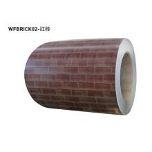 Brick pattern color coated aluminium