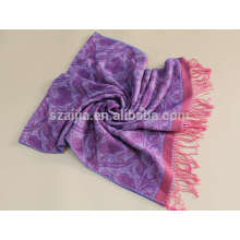 Moda faux cachemira mulheres inverno lenço jacquard