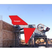 Broyeur de mâchoires de pierre dans la chaîne de production de sable