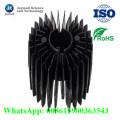 Dissipateur thermique à LED en aluminium noir personnalisé